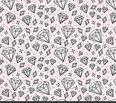 手绘闪亮钻石无缝背景