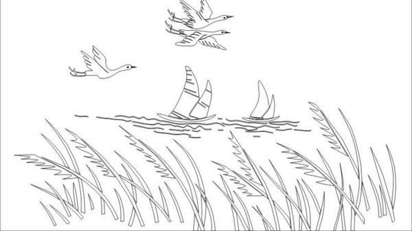 大雁的简笔画步骤