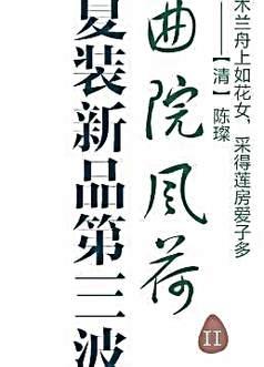 夏装新品海报字体设计