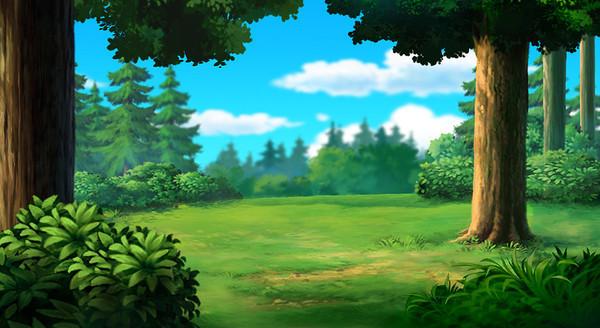 卡通森林背景素材图片