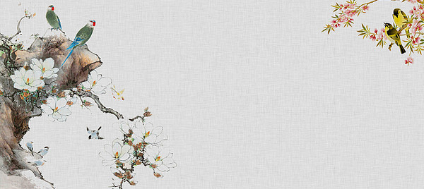 中国风画布纹理背景
