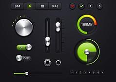 綠色音量調節按鈕