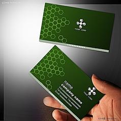 高分子环保公司名片设计