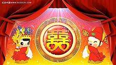 中式婚礼拜天地视频素材