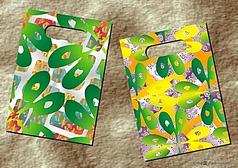 绿叶银光闪闪-手袋