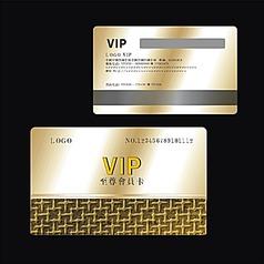 金色尊贵高档金属拉丝质感沙金浮雕花纹VIP会员卡设计