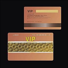 简洁大方高档尊贵金色时尚金属拉丝质感黄金浮雕欧式花纹VIP贵宾会员卡设计