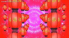 传统大红灯笼视频素材