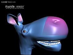 三维卡通小驴模型