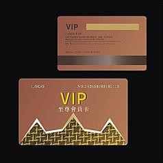 尊贵高档金色金属拉丝质感欧式浮雕金龙花纹钻石VIP系列会员卡设计