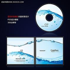 蓝色科技IT数码光盘封面设计psd