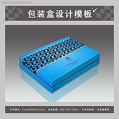 蓝色保健品包装盒平面图与效果图