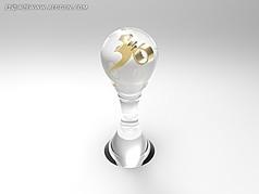 水晶奖杯模型