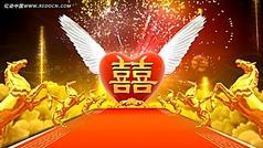 马年婚礼视频 爱神之心视频素材