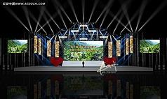 演唱会舞台舞美设计3d模型