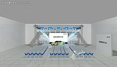 4s店开业庆典舞台舞美设计3d模型效果图