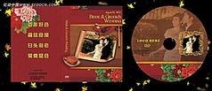 中国风复古婚庆婚礼dvd光盘封面设计psd