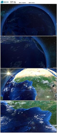 从太空穿梭到地球表面快速放大视频素材
