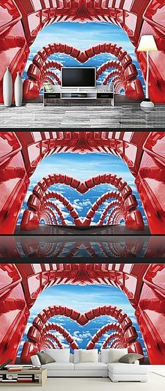 3D空间艺术电视背景墙