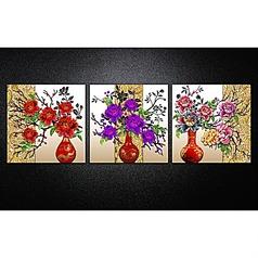 牡丹花瓶无框装饰画