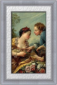 情侣油画装饰画
