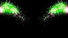 漂亮的五彩烟花绽放视频背景
