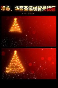 红色圣诞节视频背景素材模板