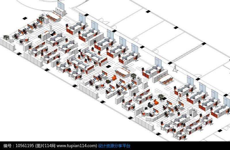 3d素材 3d模型 室内设计 办公家具草图整体透视效图skp模型     素材