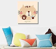 可爱猫咪无框画