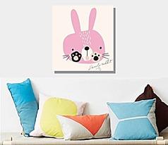 可爱卡通兔子无框画