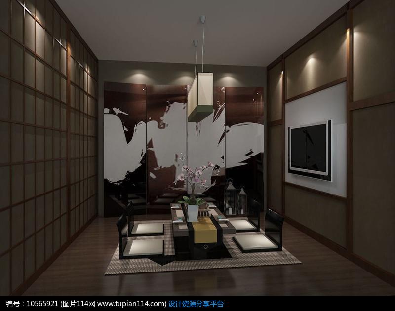 3d素材 3d模型 室内设计 3d日式料理小包房模型和效果图