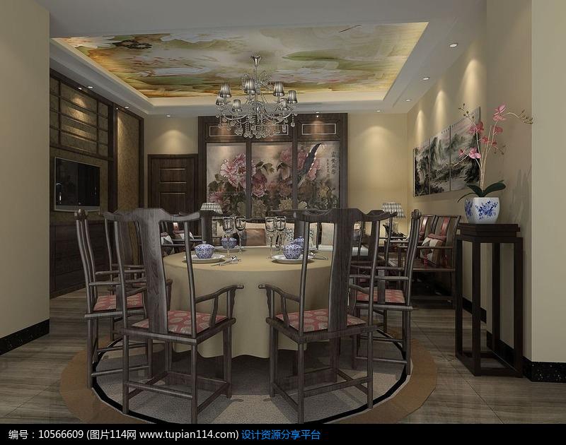 3d素材 3d模型 室内设计 3d酒店小包房模型和效果图