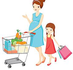 推著購物車的孕婦