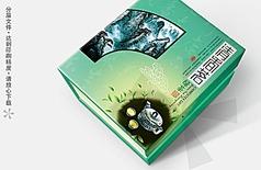 清香茗绿茶茶叶盒包装