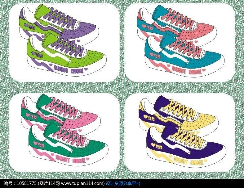 [原创] 外贸休闲运动鞋设计矢量手稿 板鞋 流行运动鞋样与配色