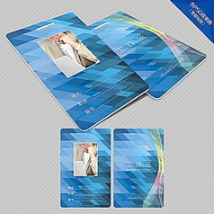 科技企业胸卡模版