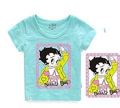 可爱卡通女孩  童装印花 女孩烫画