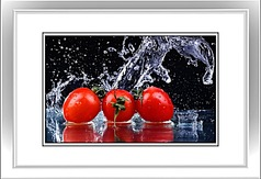 新鲜圣女果水果装饰画
