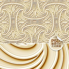 个性浮雕欧式壁纸设计