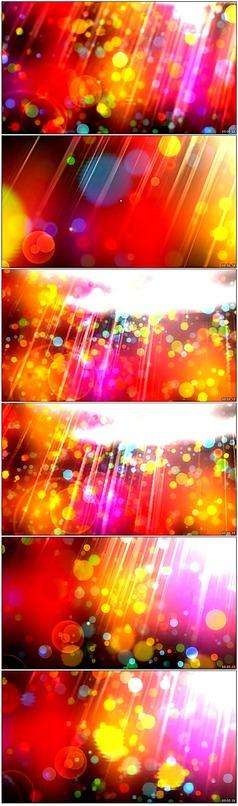 红色光晕动态视频素材模板