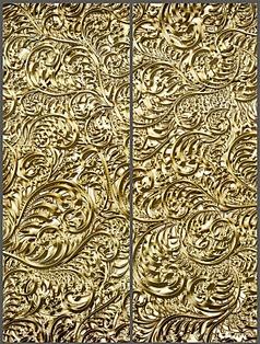 古典奢华金色卷尾草移门图案
