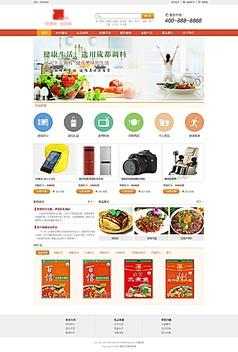 产品展示类企业网站首页psd