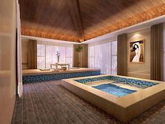 温泉浴池3d模型