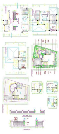 两层别墅户型图cad