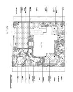 别墅后花院布置cad施工图