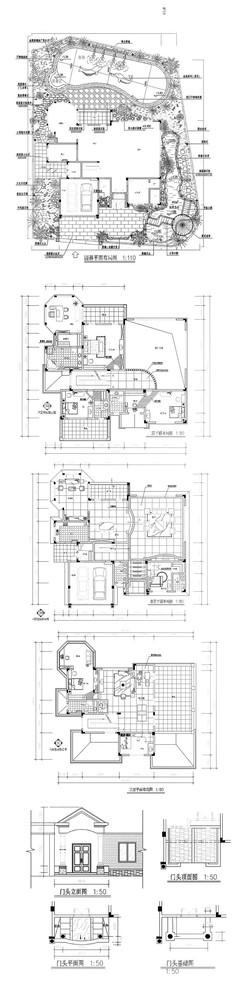 别墅装修设计CAD图