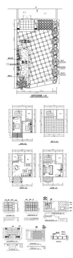 别墅室内装修cad施工图纸