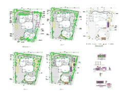 别墅庭院cad平面施工图