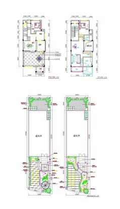 别墅庭院cad设计图
