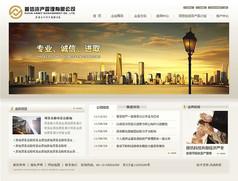 投资金融类网站首页原创设计9套